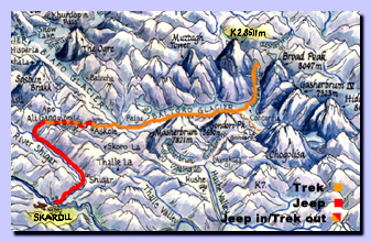 Map of our trekking route